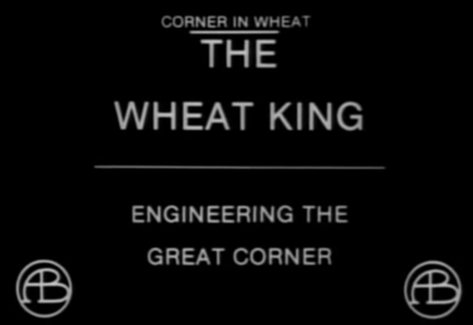 "Intertitle from ""A Corner in Wheat"" (1909)."